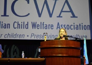 Cherokee Nation Assistant Attorney General Chrissi Nimmo speaks at the