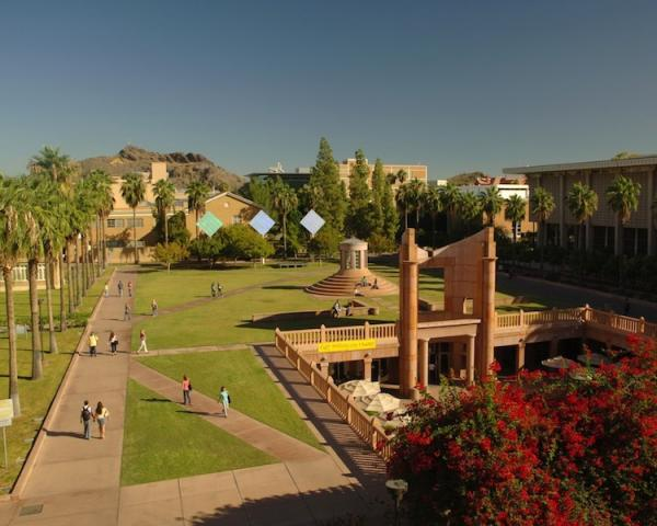 Arizona State UniversityHayden Lawn on the Tempe, Arizona campus of Arizona State University. ASU is among the universities named as influential by the recent study.