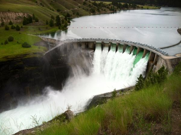 Credit Marci KrivonenThe Kerr Dam in Northwest Montana was built in the 1930's on the Flathead Indian Reservation. It's been owned by non-tribal companies since it was built.