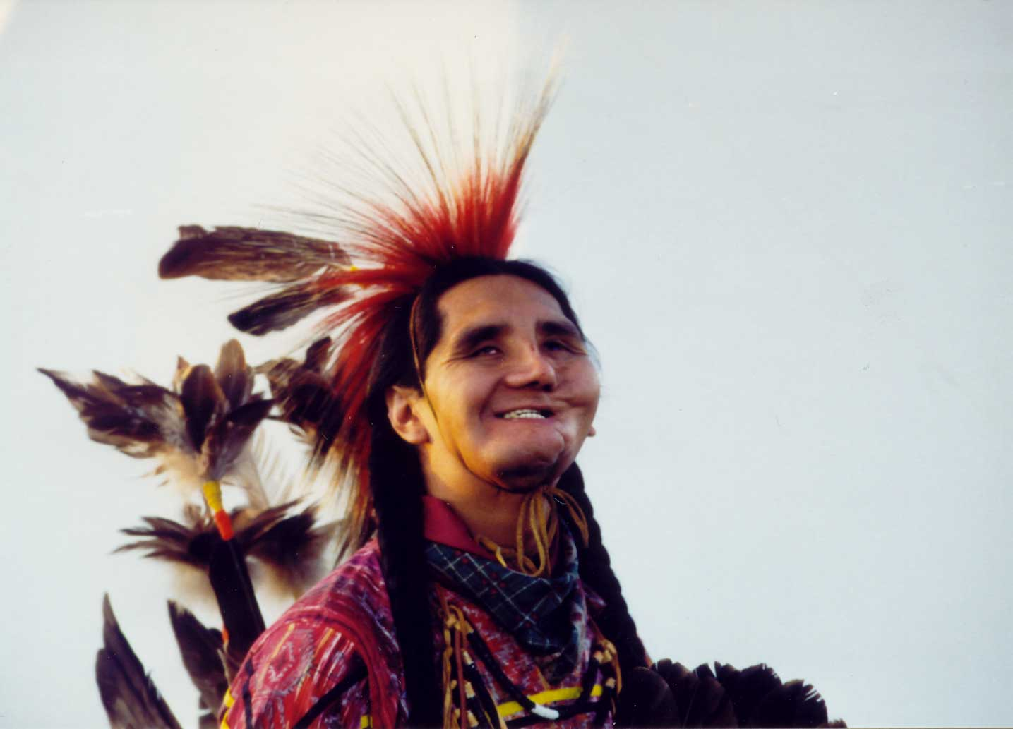 Arnold W. Thomas in native dress.Photo from WhiteBuffaloKnife.com