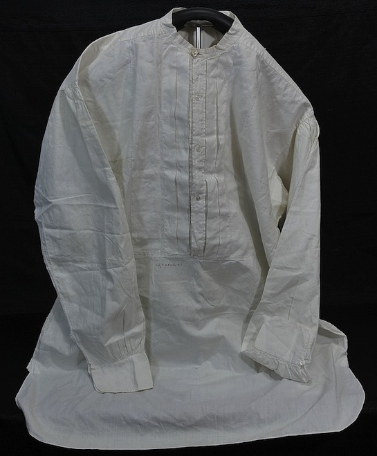 George Armstrong Custer signed shirt. Photo from Saco River Auction