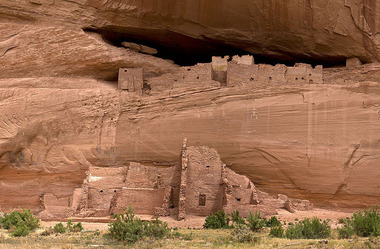 In Canyon de Chelly, Ariz., Navajo people used the sun's energy in their vernacular buildings.