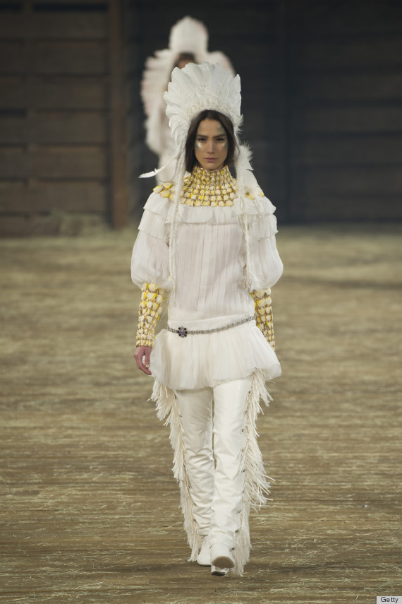 Chanel S Native American Headdress On Runway Raises
