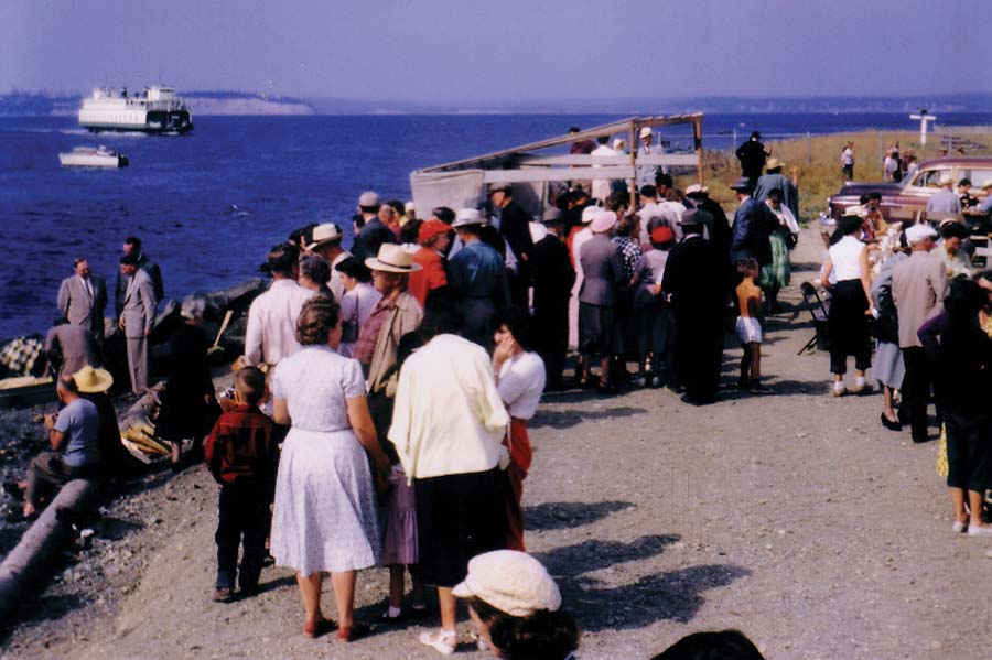 Gathering at the beach in Mukilteo. Photo by Tulalip Church of God Pastor B. Adam Williams.