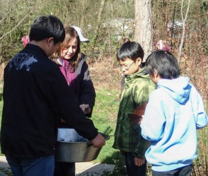 As part of the special tour students were able to learn about traditional plants and how they were used. Photo/ Brandi N. Montreuil, Tulalip News