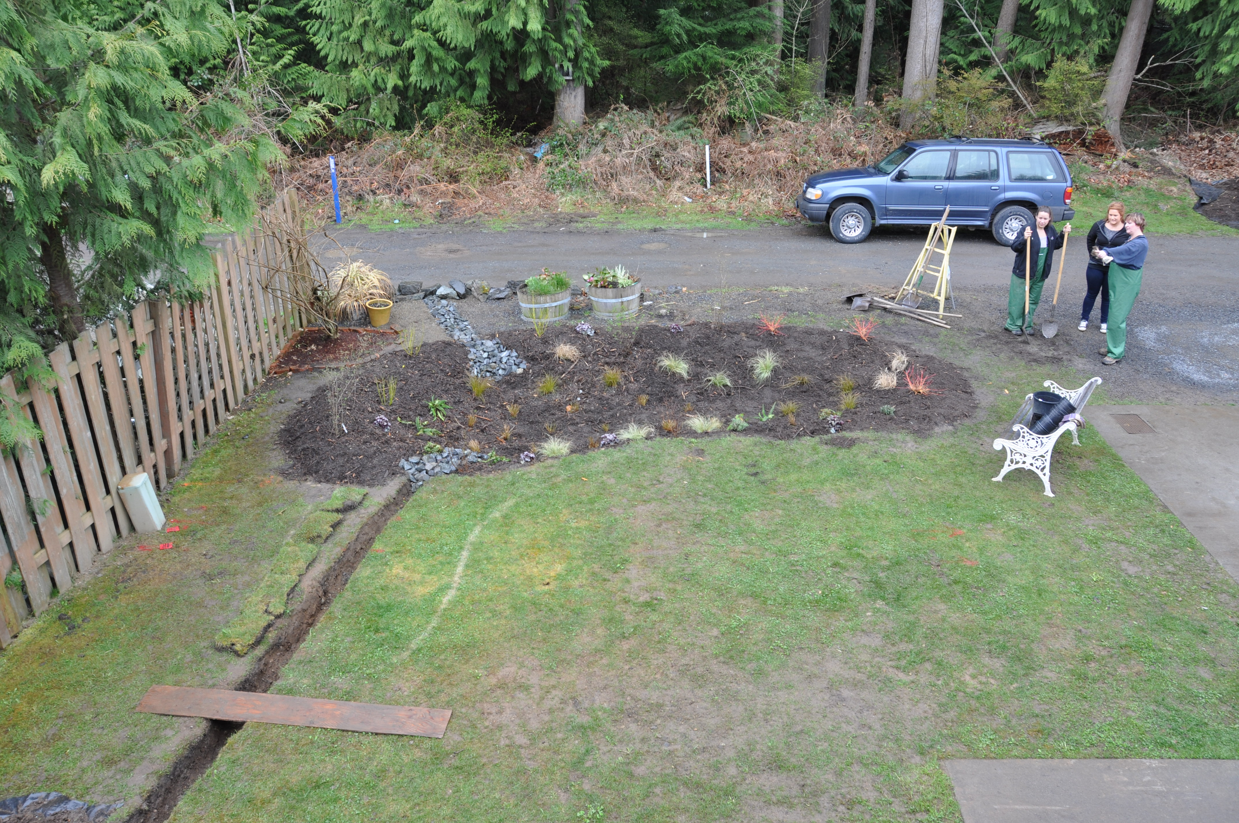Aerial view of the rain gardenPhoto by Monica Brown