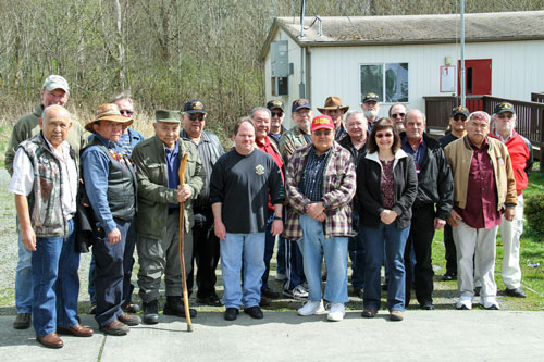 Veterans from all military branches supported each other during the first Welcome Home Vietnam Veterans celebration, organized by Tulalip veteran marine Andy James. Photo/ Brandi N. Montreuil, Tulalip News