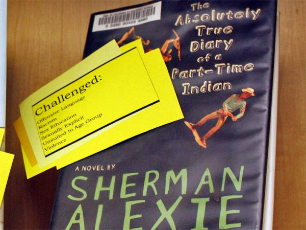"""File photo of Sherman Alexie's """"The Absolutely True Diary of a Part-Time Indian.""""Kraemer Family Library Flickr"""