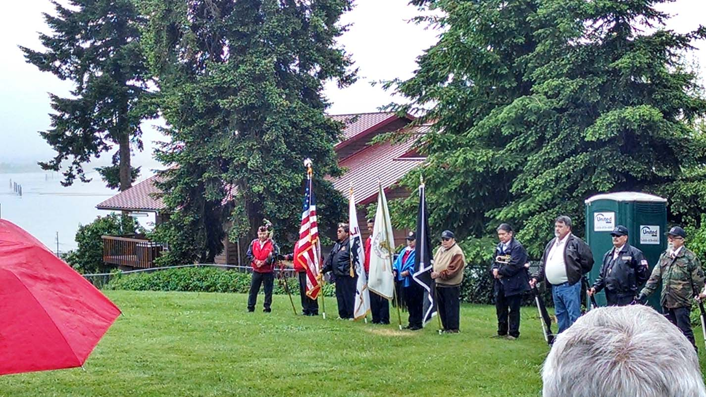 Tulalip Honor Guard at Priest Point Cemetery Memorial Day ceremony