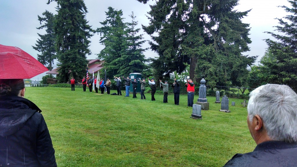 Tulalip Honor Guard 21 Gun Salute at Priest Point Cemetery
