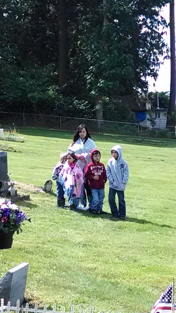 Natosha Gobin and her children, Aloysius, Katie, Kane, and KC, opened each Memorial Day service with a prayer in our traditional Lushootseed language.