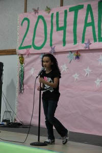 This little singer's name is Emma.