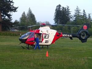 Tulalip Bay Fire Department Airlift Drill