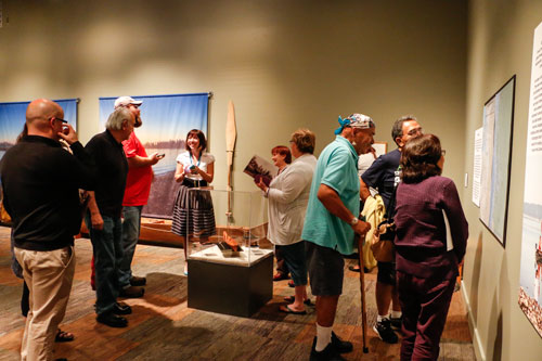 """Coast Salish Canoes,"" opened at the Hibulb Cultural Center and Natural History Preserve on June 27, with over 80 guests in attendance."