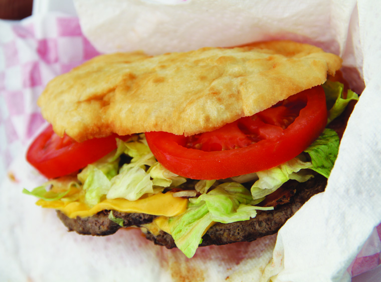 Frybread burger