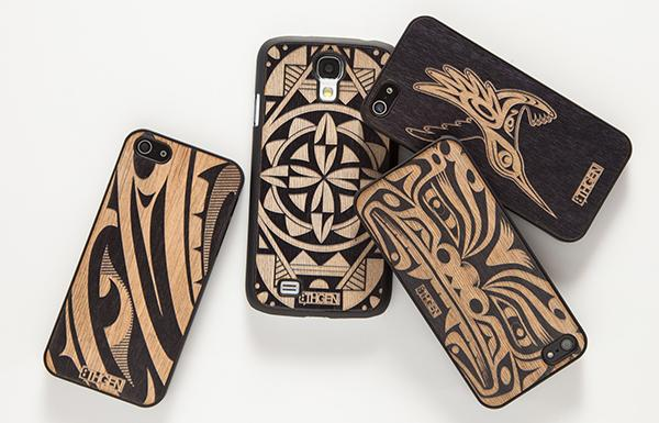 Courtesy Louie GongThe 'Inspired Natives' collection includes these mobile phone cases designed by Louie Gong and Michelle Lowden.