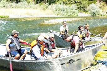 Courtesy Hoopa Valley Tribe Chairperson Danielle Vigil-Masten and Tribal Council members took Bureau of Reclamation officials and Supervisor Ryan Sundberg on a boat down the Trinity River in Hoopa.