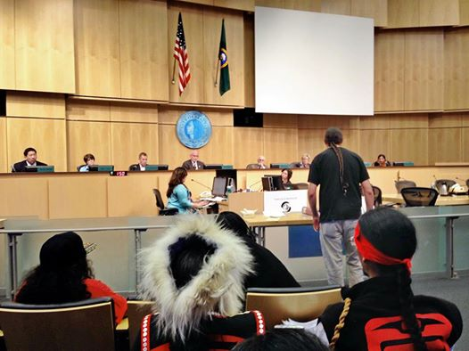 Matt Remie testifies before Seattle City Council on Tuesday.