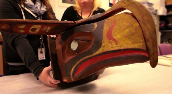 KCTS 9The Seattle Seahawks logo is inspired by a Kwakwaka'wakw artist's mask which will be on display at the Burke Museum in Seattle on November 22.
