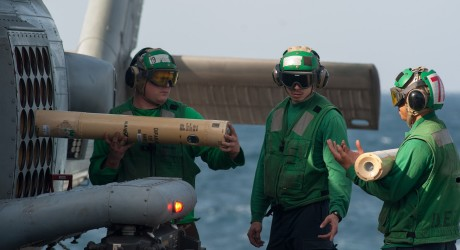 Sailors unloading sonobouys from a Sea Hawk helicopter. The Navy wants to expand its permit to deploy vessels and sonobouys off the Washington, Oregon and northern California coastline.U.S. Navy