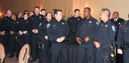 Tulalip Police officers during the department's awards banquet, Wednesday, Feb. 11, 2015, at the Tulalip Resort Casino. (Photo courtesy Theresa Sheldon)