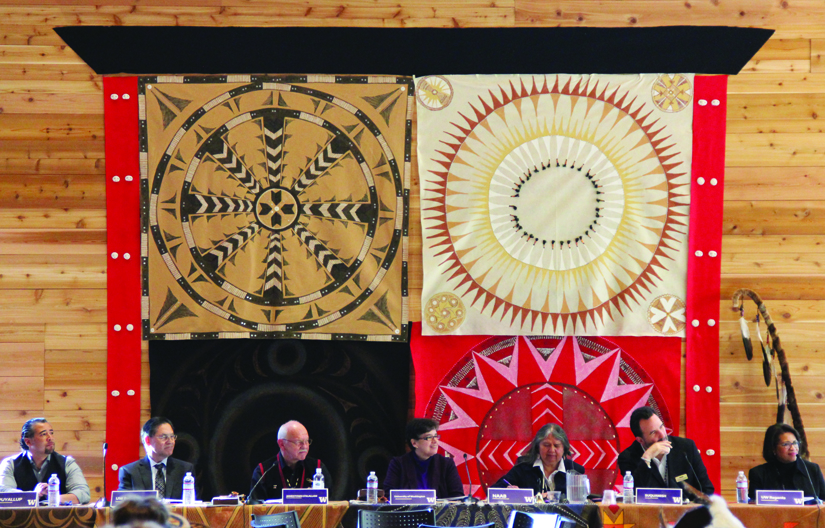 UW officials and tribal leaders from the 22 federally recognized tribes in the Washington State held their annual tribal summit in the Intellectual House.  Photo/Micheal Rios