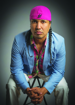 Gyasi Ross, keynote speaker at Tulalip Wellness Conference. Photo courtesy of Gyasi Ross.