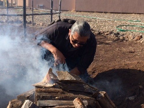 (Laurel Morales)Shannon Rivers, an Akimel O'odham member, leads purification ceremonies at the Coconino County jail, where half of the inmates are Native American.