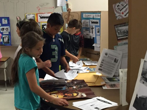 Second grade to fifth graders attended the cultural fair and learned about the various tribes presented on Thursday, June 11, 2015, at the Quil Ceda Tulalip Elementary School. Photo/ Tulalip News, Brandi N. Montreuil