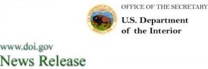 department of interior press release