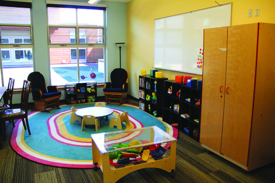 Interior views of ELA's classrooms set-up for learning and imaginative play.Photo/Micheal Rios