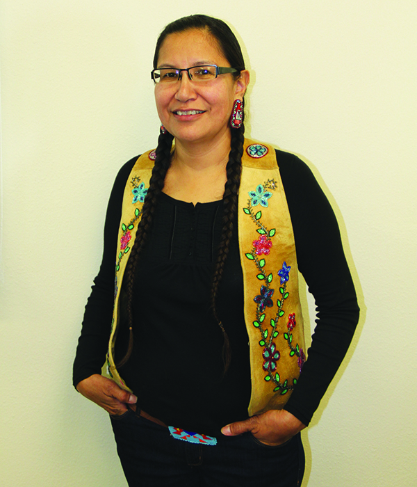Syliva McAdam (Saysewahum), a cofounder of the international movement Idle No More,
