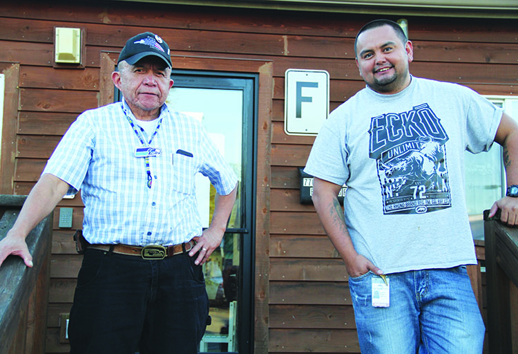 Tulalip tribal members Andy James and Cody Monger are leading the Young Men's Group and helping to guide youth through life.