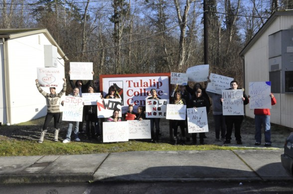 Idle No more, NWIC students and staff at Tulalip College Center