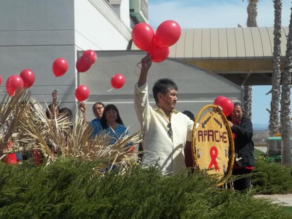 2011 National Native HIV/AIDS Awareness Day red balloon release on the San Carlos Apache Reservation in Arizona. (National Native American HIV/AIDS Awareness Day Facebook)