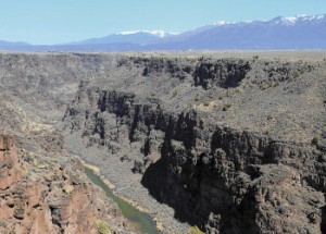 The Rio Grande Gorge, looking north from the Taos Gorge Bridge is now part of the Rio Grande del Norte National Monument near Taos, NM, photographed on Monday March 25, 2013. (Dean Hanson/Journal)