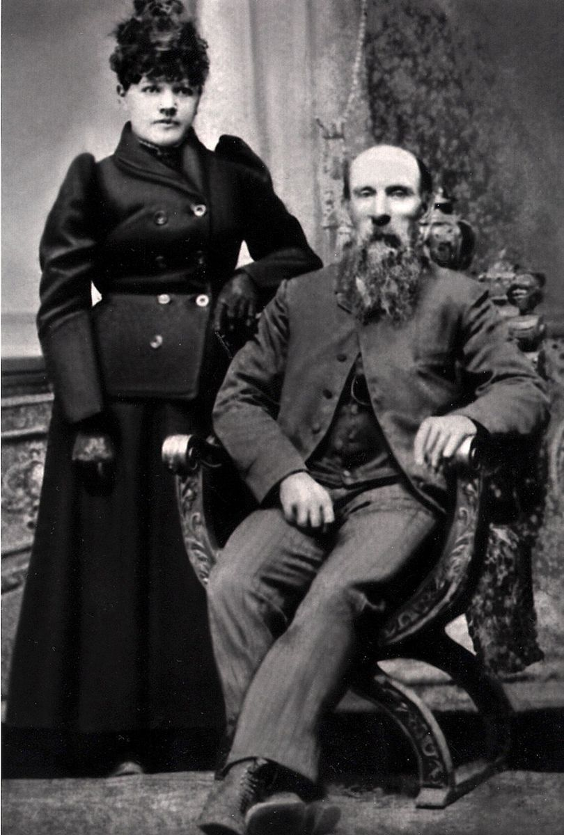 Photo courtesy Diane JanesThomas Adams, a non-tribal member, laid the first telegraph lines across the Tulalip reservation, in the 1860s. His wife, standing, was S'Klallam tribal member Ellen Giddings. The couple lived at Warm Beach. The photo is from the late 19th century.