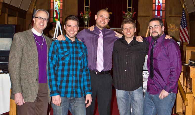 The new crew, from left: Lattime, Wright, Schuenemann, Hopkins and Karstens