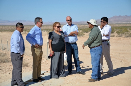 David Agnew, Director of the White House Office of Intergovernmental Affairs, meets with leaders of the Moapa Band of Paiute Indians and the Moapa Solar Project. (by Eric Lee)