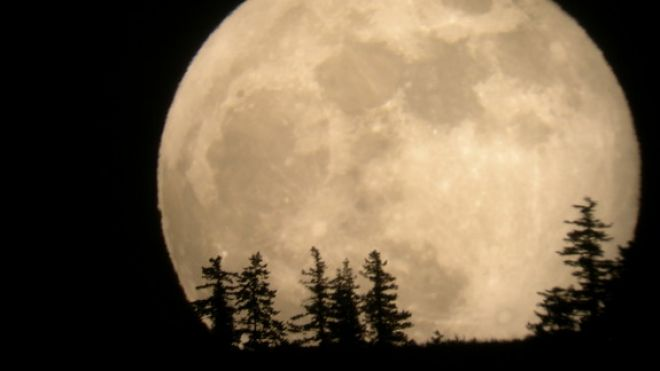 The supermoon of 2012 rises over Entiat, Wash., in this photo by skywatcher Tim McCord snapped on May 5, 2012. (Tim McCord)