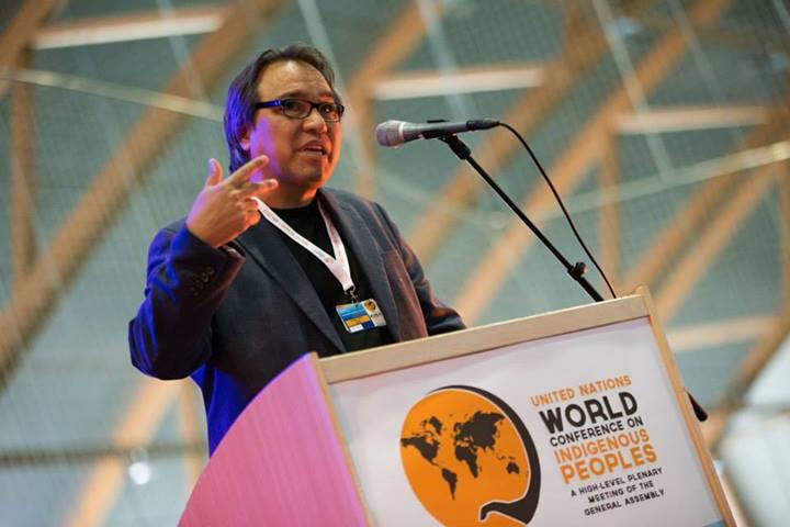 June 11, 2013 - S. James Anaya, speaking at the WCIP Global Preparatory Meeting in Alta, Norway. (Photo: Ben Powless, Global Coordinating Group Media Team)