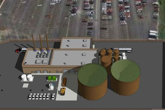 Rendering of the Forest County Potawatomi Community's renewable generation facility (miron-construction.com)