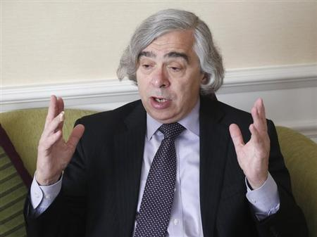U.S. Secretary of Energy Ernest Moniz gestures during an interview with Reuters in Vienna June 30, 2013.Photo: Reuters/Leonhard Foeger
