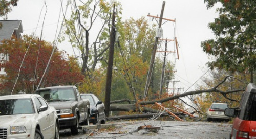 Hurricane Sandy offered a glimpse of what future storms could mean for energy infrastructure Photo: Arlington County/cc/flickr