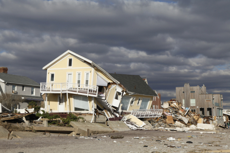 ShutterstockBeach house in the aftermath of Hurricane Sandy in Far Rockaway, N.Y.