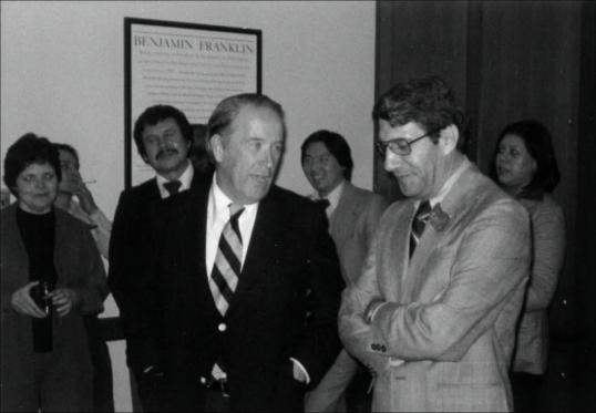 Forrest Gerard Senator Henry Jackson and Forrest Gerard 1976