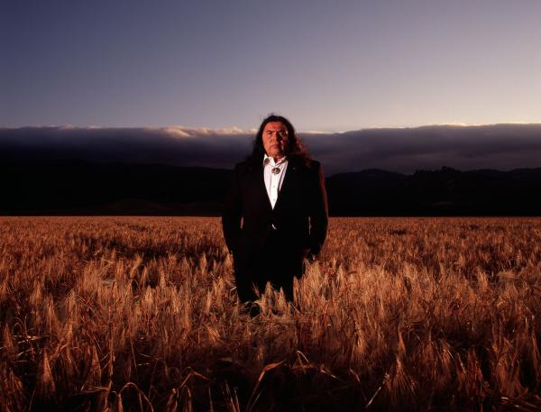 Yocha Dehe Wintun Nation tribal chairman Marshall McKay stands in the tribe's wheat fields in the Capay Valley. (Courtesy of the Yocha Dehe Wintun Nation)