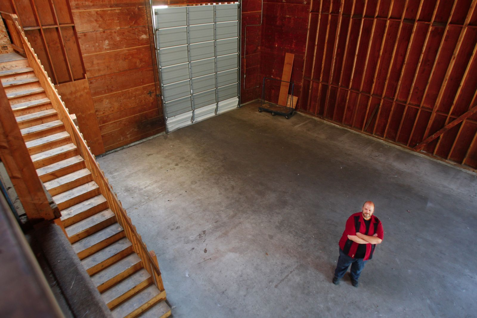 Sean Ryan / The HeraldScott Randall, a board member for the Red Curtain Foundation for the Arts says a former lumber store has the space the foundation needs for its programs in Marysville.