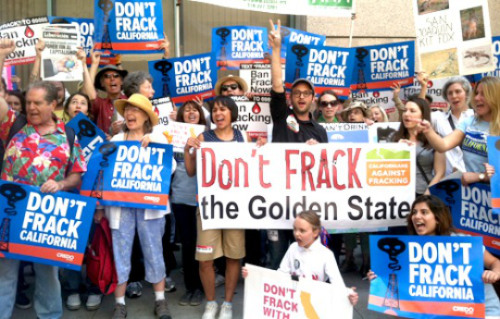 Only a full ban on fracking will do. Regulations can neither prevent nor mitigate the disastrous consequences inherent to fracking. We need to keep the carbon in the ground. Photo: Californians Against Fracking