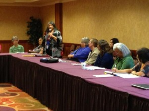 ATNI members discuss healthcare during Tuesday's convention.